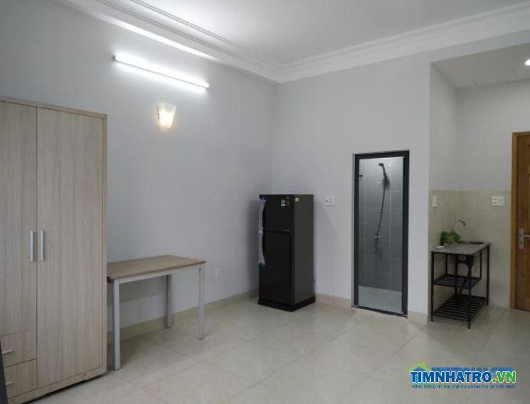 Phòng trọ cho thuê mới xây, đầy đủ nội thất, không chung chủ