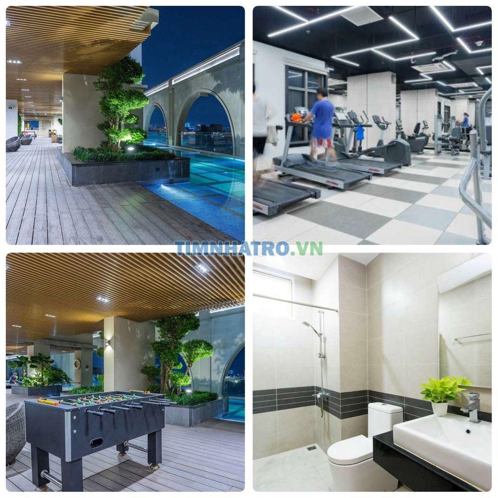 Phòng nvs riêng full tiện nghi free, hồ bơi gym