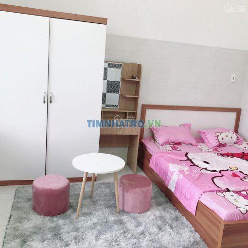 Căn studio đầy đủ nội thất ban công thoáng mát, dt 27m2, thang máy, gò vấp