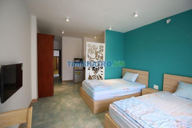 Phòng đẹp có bang công 32 m2 tại tân vĩnh, p.6,q.4
